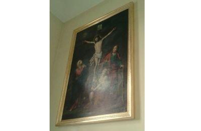 Nowo wykonana rama obrazowa w kościele św. Józefa w Zabrzegu